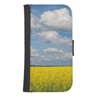 Canola Field & Clouds Samsung S4 Wallet Case