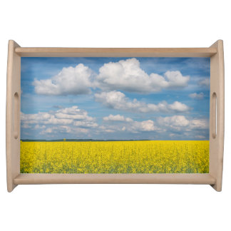 Canola Field & Clouds Serving Tray