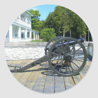 Canon at Fort Mackinac Round Sticker