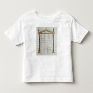 Canon of the Evangelists, from the Ebbo Toddler T-Shirt