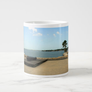 Canon on platform over inlet in St. Augustine Jumbo Mug