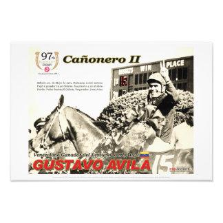 Cañonero II, Gustavo Avila, Kentucky Derby Poster Photo Art