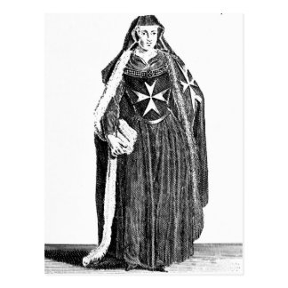 Canoness of the Order of St. John of Jerusalem Postcard