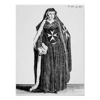 Canoness of the Order of St. John of Jerusalem Poster