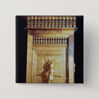 Canopic chest in the form of a shrine set 15 cm square badge