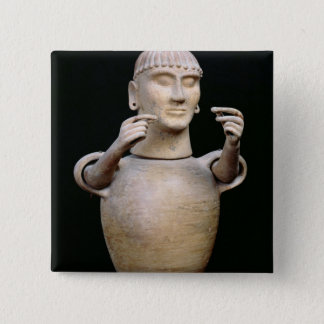 Canopic jar with moveable arms 15 cm square badge