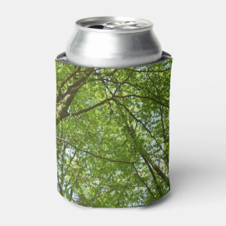 Canopy of Spring Leaves Green Nature Scene Can Cooler