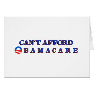 Can't Afford Obamacare Cards