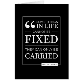 """""""can't be fixed"""" card in white on black"""