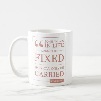 can't be fixed mug in coral