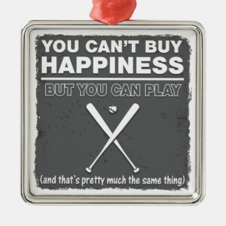 Can't Buy Happiness Baseball Ornaments