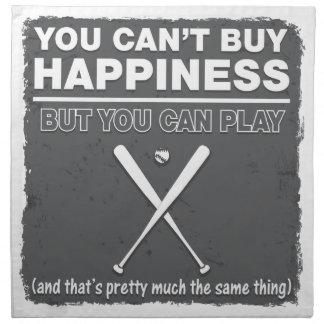 Can't Buy Happiness Baseball Napkin
