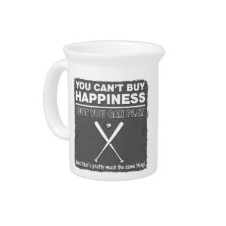 Can't Buy Happiness Baseball Pitcher