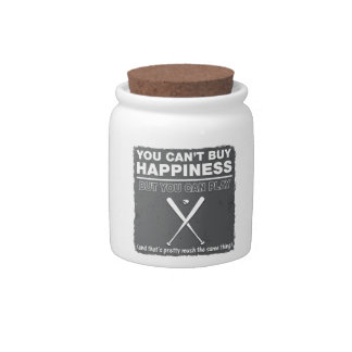 Can't Buy Happiness Baseball Candy Dish