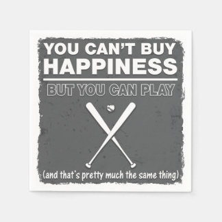 Can't Buy Happiness Baseball Disposable Napkins