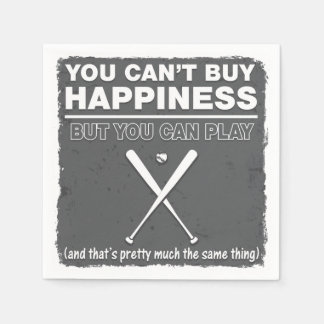 Can't Buy Happiness Baseball Paper Napkins