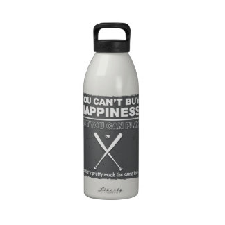 Can't Buy Happiness Baseball Reusable Water Bottles