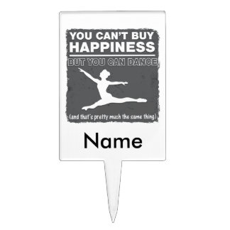 Can't Buy Happiness Dance Cake Toppers