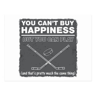 Can't Buy Happiness Hockey Post Card