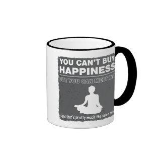 Can't Buy Happiness Meditate Ringer Mug