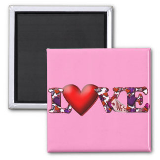 Can't Buy Me Love! Square Magnet