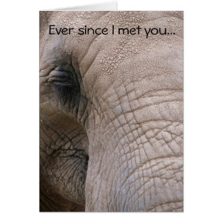 Can't Forget You Elephant Greeting Card