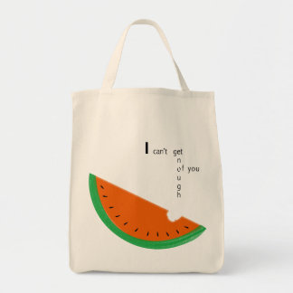 can't-get-enough grocery tote bag