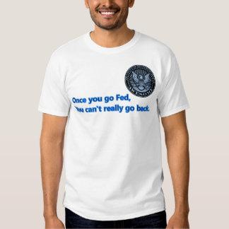Cant go back on FED BLUE Shirt