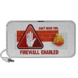 Can't hear you. Firewall Enabled Travelling Speakers