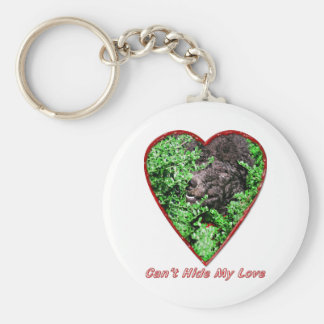Can't Hide My Love Basic Round Button Key Ring