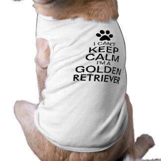 Can't Keep Calm Golden Retriever Dog Sleeveless Dog Shirt