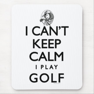 Can't Keep Calm Ladie's Golf Mouse Mat