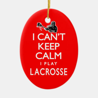 Can't Keep Calm Men's Lacrosse Christmas Ornament