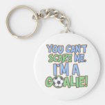 Can't Scare Me I'm A Goalie Keychain