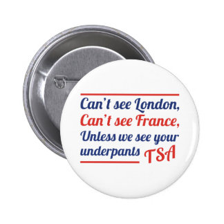 Can't See London 6 Cm Round Badge