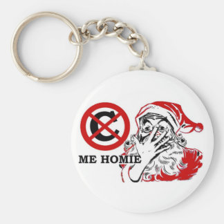 Can't see me homie basic round button key ring