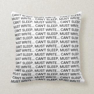 Can't Sleep, Must Write Pillow