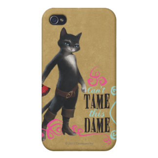 Can't Tame This Dame (color) iPhone 4 Cases