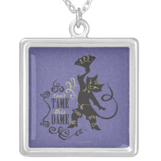 Can't Tame This Dame Square Pendant Necklace