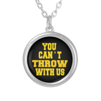 Can't Throw with Us Round Pendant Necklace