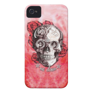 Can't tie me down nautical skull in red and white. iPhone 4 covers