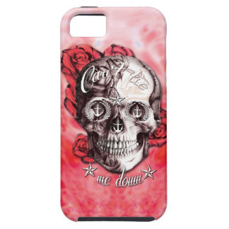 Can't tie me down nautical skull in red and white. iPhone 5 cases