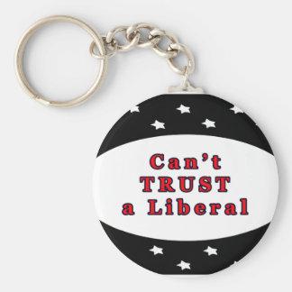 Can't TRUST a Liberal Black Stars The MUSEUM Zazzl Keychain