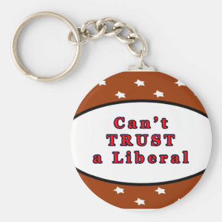 Can't TRUST a Liberal Brown Stars The MUSEUM Zazzl Key Chains