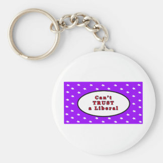 Can't TRUST a Liberal Purple Stars The MUSEUM Zazz Keychain