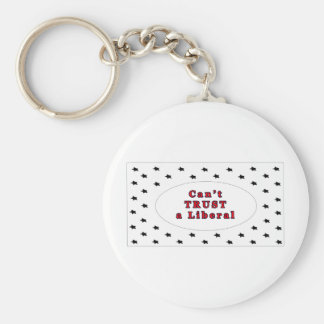 Can't TRUST a Liberal White Stars The MUSEUM Zazzl Key Chains