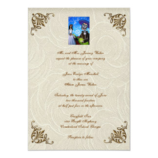Cantada Day Of The Dead Wedding Invitation