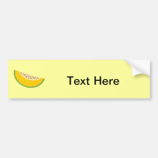 Cantaloupe Cantaloup Mushmelon Fruit Sweet Health Bumper Sticker
