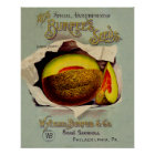Cantaloupe Fruit Seed Advertising Vintage Poster