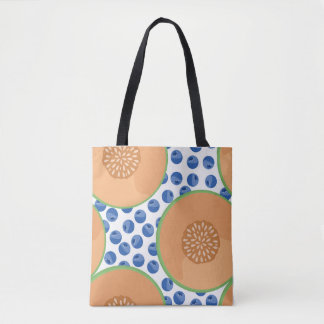 Cantaloupes and Blueberries Tote Bag